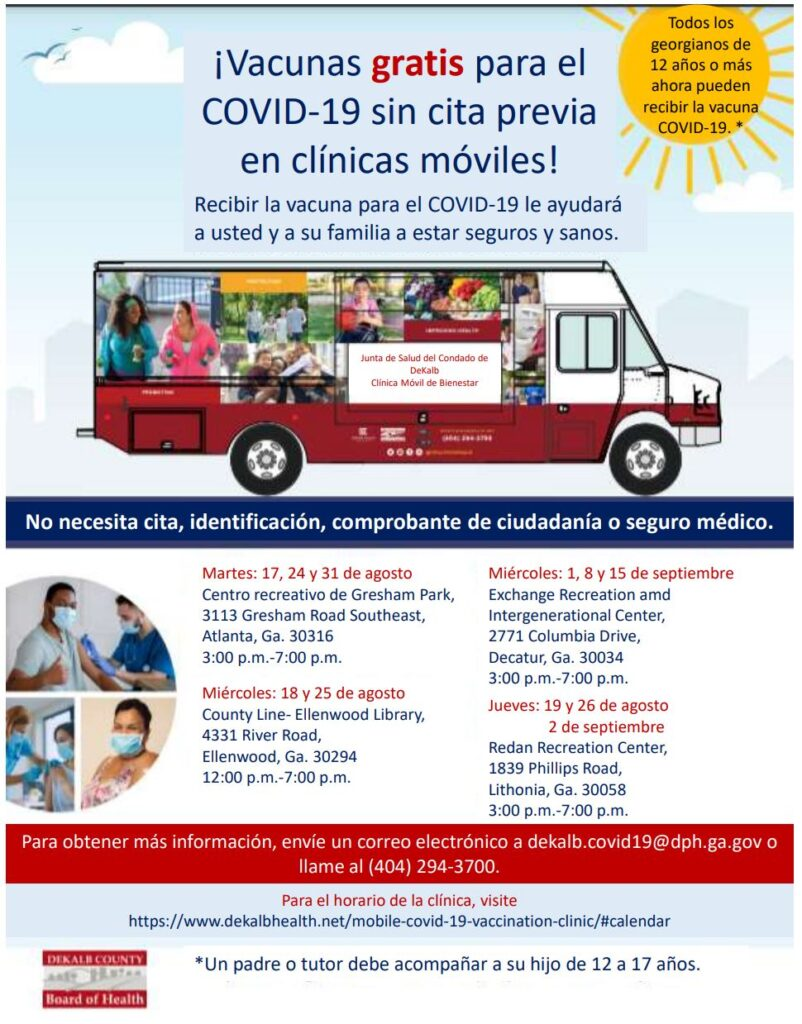 Free Walk Up Vaccine - Spanish