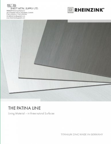 RHEINZINK PATINA LINE