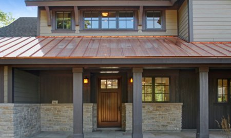 Copper Mechanical Lock Standing Seam Panels