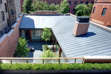 RHEINZINK Graphite-Grey Mechanical Lock Standing Seam Roof Panel