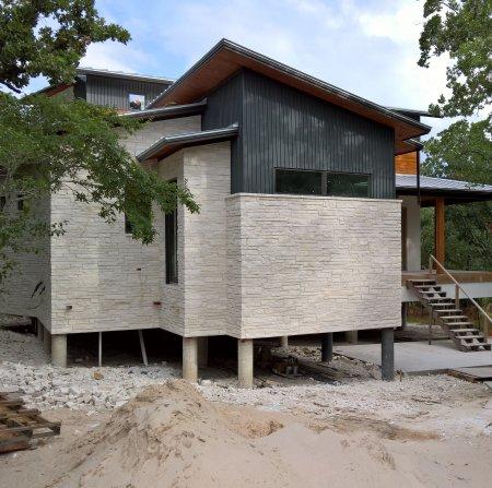 RHEINZINK Graphite-Grey Trapezoidal Wall Panel