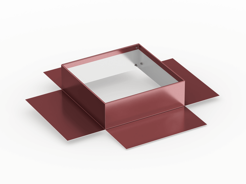 low slope roof pitch pan