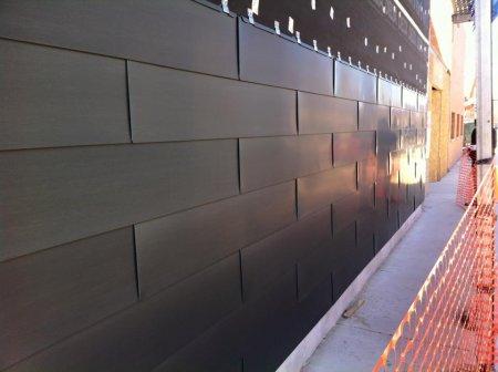 RHEINZINK Graphite-Grey Flat Lock Wall Tiles