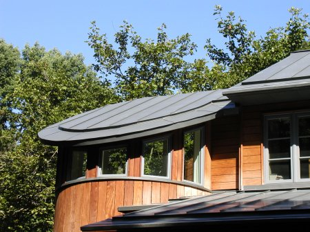 RHEINZINK Graphite-Grey Mechanical Lock Standing Seam Panels