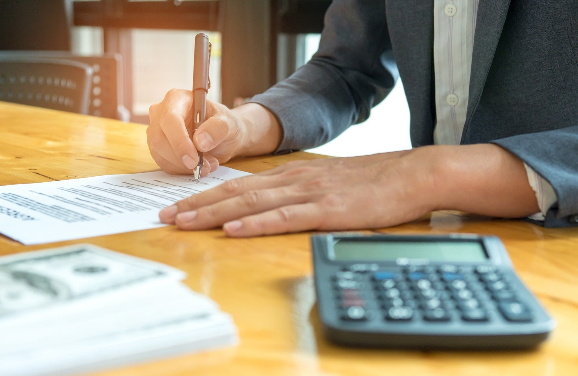 Sign the document when it comes to business deals.