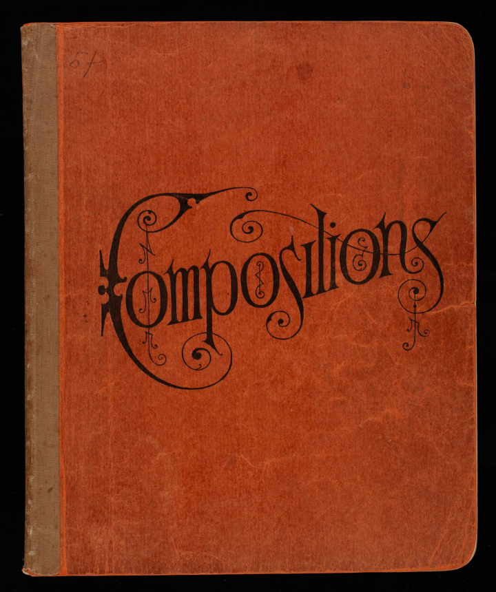 1902 Composition Notebook Cover.