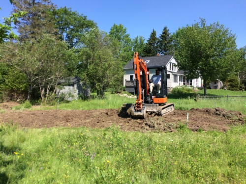 Shaping the Duckpond  excavate.