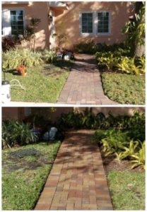 Before & After: side walk pressure cleaning