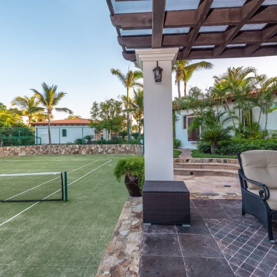 Private grass tennis court