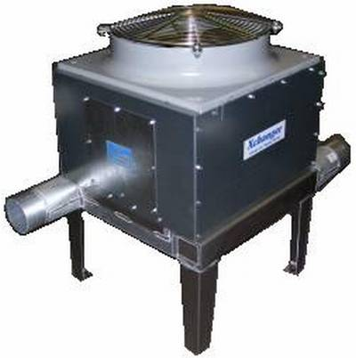 Air cooled blower aftercooler with access panel