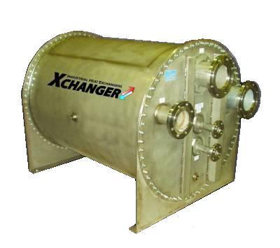 Landfill gas heat exchanger