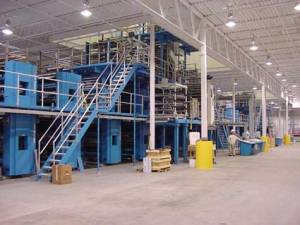 Xchanger heat exchangers are used in printing presses to cool air in turning bars
