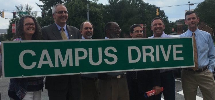 Event/Media Summary: Paint Branch Parkway renamed Campus Drive