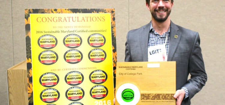 College Park Honored with Prestigious Sustainable Maryland Award