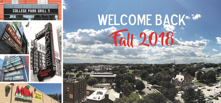 Fall 2018 in College Park – Lots to do!