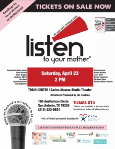 2016 4 11 Listen to your Mother Poster