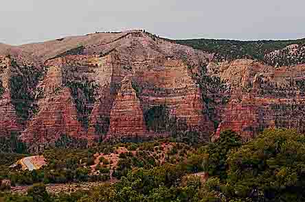 Diamond Mountain And Diamond Gulch Near Fish Hatchery, Dinosaur National Monument, Utah, copyright 2013 David Leland Hyde.