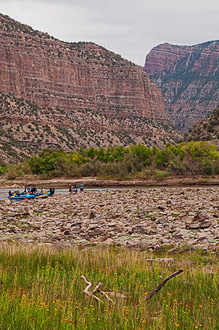 Green River, Rafting Party, Harpers Corner From Jones Hole, Dinosaur National Monument, copyright 2013 David Leland Hyde.