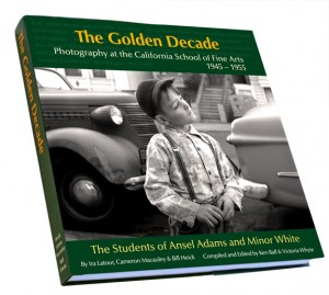 Original limited edition printing design of The Golden Decade. Gerhard Steidl already redesigned the book, fonts and colors with a more contemporary art look.