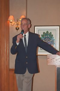 Cousin Clint Speaking at Uncle Clint's Celebration of Life, Del Paso Country Club, Sacramento, California, 2012 by David Leland Hyde.
