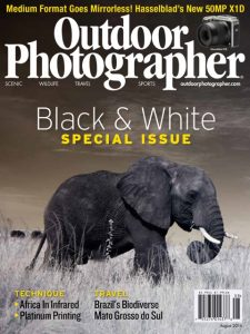 Cover of August Issue of Outdoor Photographer magazine.