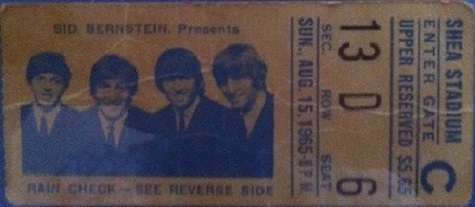 I Was There: Beatles Concert at Shea Stadium, 1965 – Recollections by Camille LaCognata