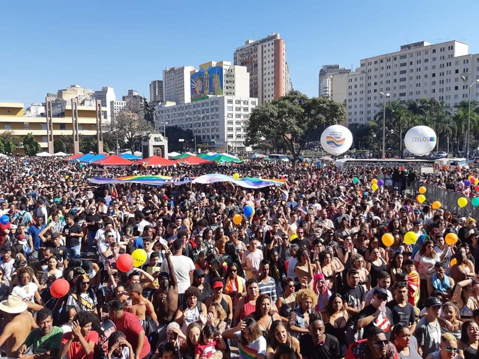A concentração da Parada foi na Praça da Estação, no Centro de BH. (Foto: Divulgação)
