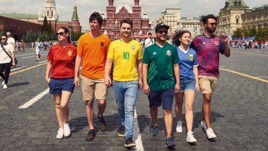Torcedores usam camisas de seus países para protestar a favor dos direitos LGBT na Rússia (Foto: Divulgação/Thehiddenflag.org)