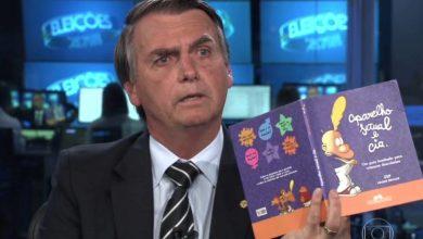 """Em nova inserção eleitoral do candidato na TV e no rádio, Bolsonaro fala sobre um filme com """"beijo lésbico"""" que seria passado para """"criancinhas de 6 anos"""". (Foto: Reprodução/TV Globo)"""