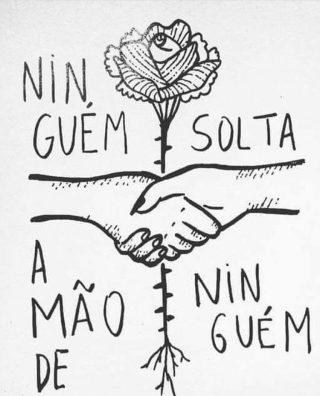 'Ninguém solta a mão de ninguém' (Foto: Reprodução)