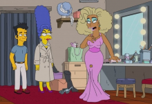 Marge Simpson com RuPaul. (Foto: Twitter/Reprodução)
