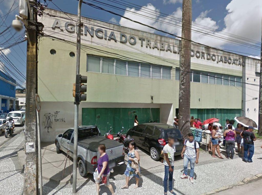 Agência do Trabalho de Jaboatão fica na Avenida Barão de Lucena, no Centro da cidade. (Foto: Reprodução/Google Street View)
