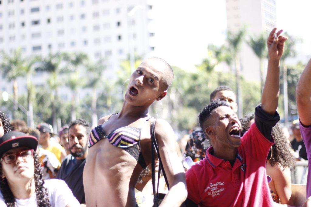 Participantes durante a 22ª Parada do Orgulho LGBT de Belo Horizonte. (Foto: Reprodução/Facebook)