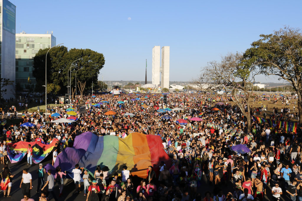 Multidão ocupa Esplanada dos Ministérios na 22ª Parada LGBTS de Brasília. (Foto: Ernane Queiroz/Gay1)