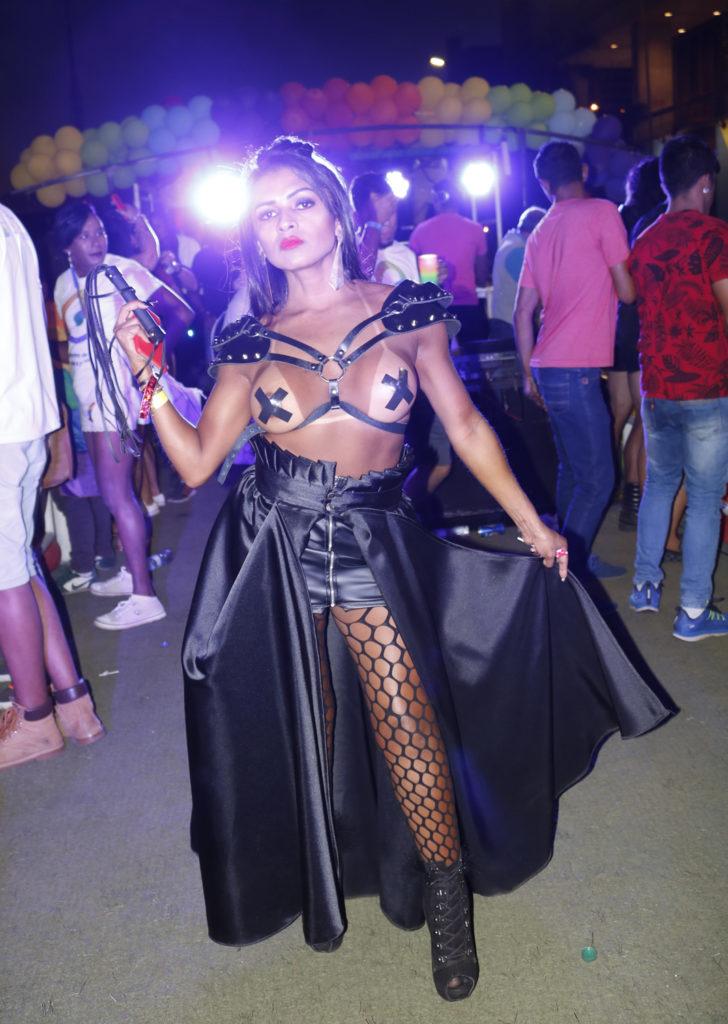 Mirella Roche na 22ª Parada LGBTS de Brasília. Foto: Ernane Queiroz/Gay1)
