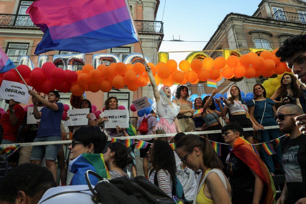 Parada do Orgulho LGBT em Lisboa, em Portugal, no sábado. (Foto: Miguel A Lopes / EPA, via Shutterstock)
