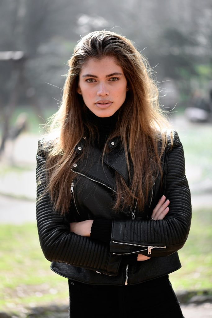 A modelo brasileira transexual Valentina Sampaio. (Foto: Miguel Medina / AFP)