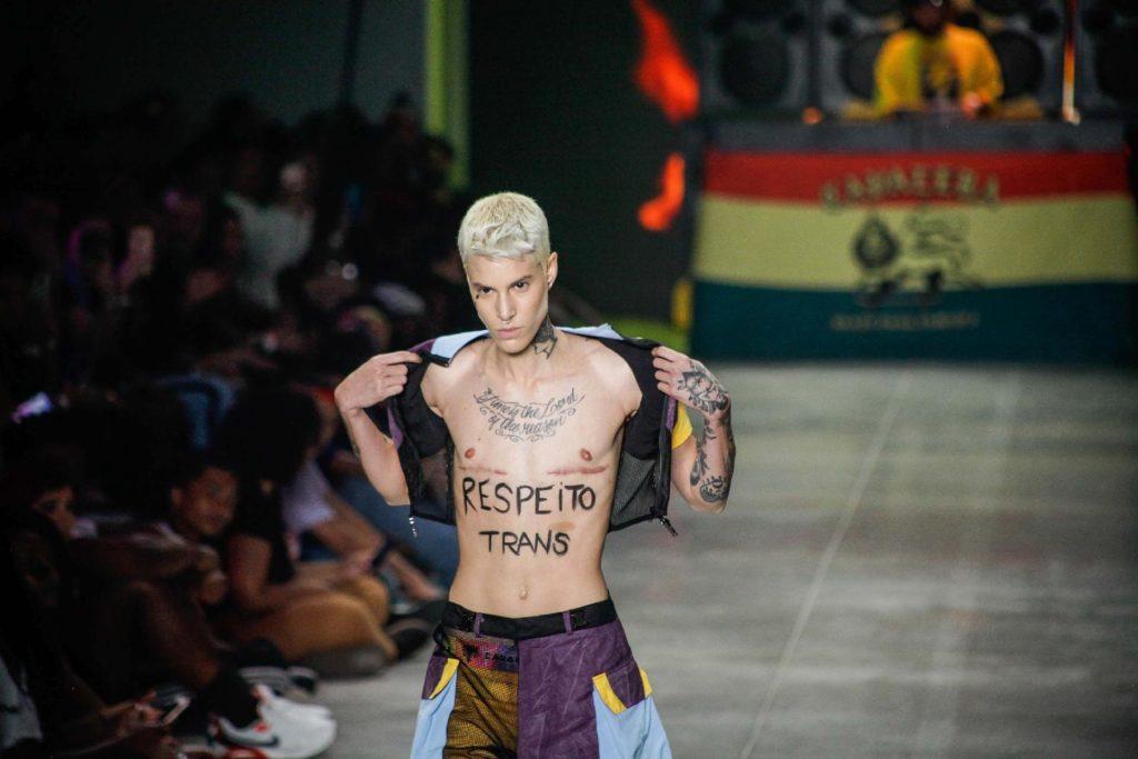 Desfile da grife Cavalera durante a edição N48, do São Paulo Fashion Week (SPFW), em São Paulo (SP), nesta quarta-feira, 16. (Foto: Adriana de Maio/Estadão Conteúdo)