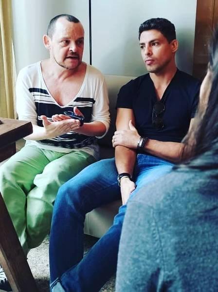 Matheus Nachtergaele e Cauã Reymond falam sobre o filme após exibição. (Foto: Reprodução/Instagram)