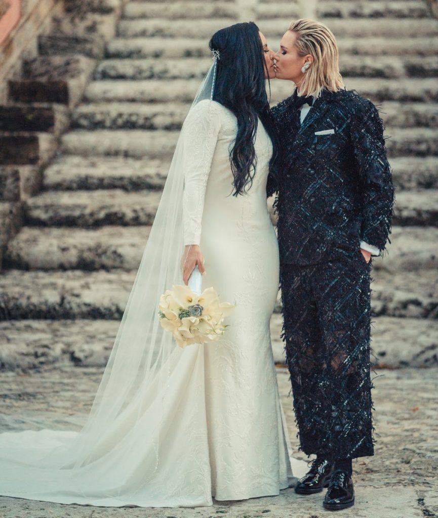 Casamento de Ashlyn Harris e Ali Krieger. (Foto: Reprodução/Instagram)