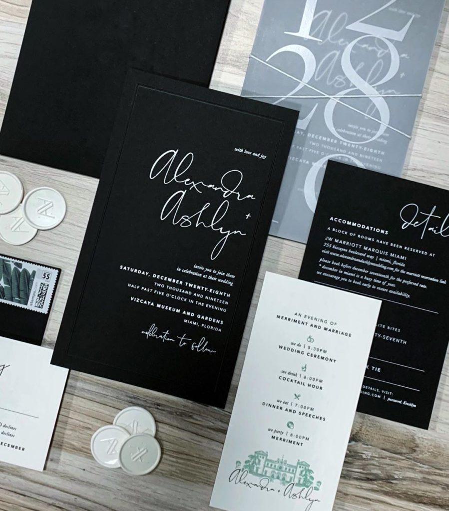 O convite de casamento Ashlyn Harris e Ali Krieger. (Foto:  Reprodução/Instagram)