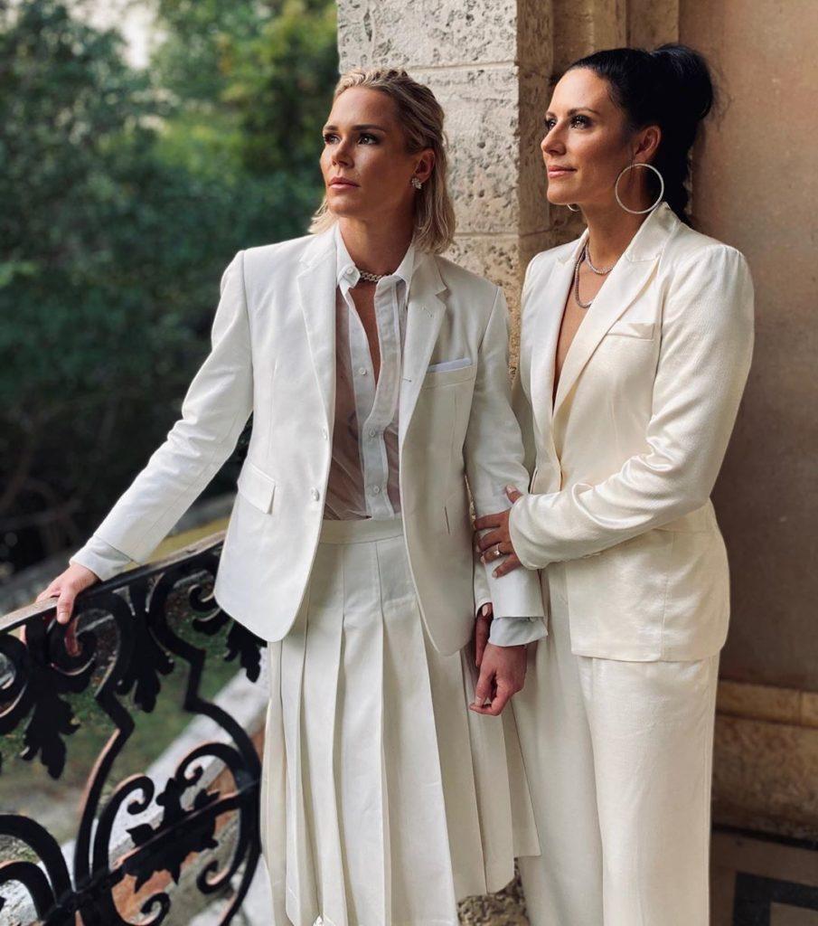 Looks para o jantar pré-casamento de Ashlyn Harris e Ali Krieger. (Foto: Reprodução/Instagram)