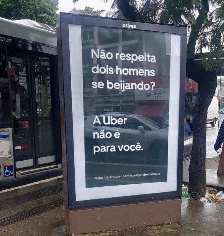 Uber faz campanha contra motoristas e passageiros LGBTfóbicos. (Foto: Reprodução)