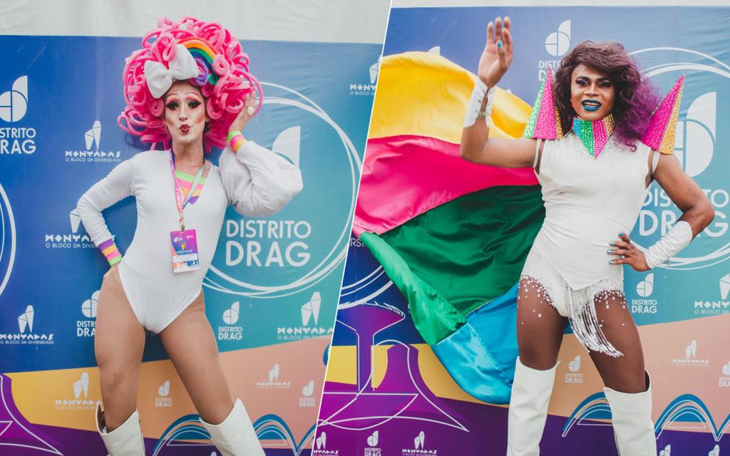 Mary Gambiarra, diretora artística e Ruth Venceremos, diretora-geral do Bloco das Montadas. (Foto: Divulgação/Bruno Cavalcanti)