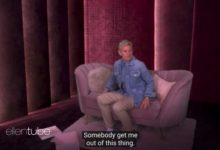 Ellen Degeneres em seu programa. (Foto: Reprodução/Instagram)