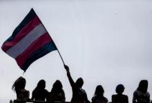 Ativistas trans durante Parada do Orgulho LGBT. (Foto: Arquivo/Gabriela Biló/Estadão)