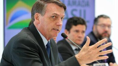 Presidente da República, Jair Bolsonaro (sem partido), na reunião ministerial em 22 de abril, no Palácio do Planalto. (Foto: Marcos Corrêa/PR)