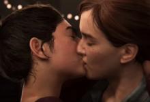 A cena de beijo entre duas mulheres presente no trailer do game The Last Of Us Part II. (Foto: Reprodução)