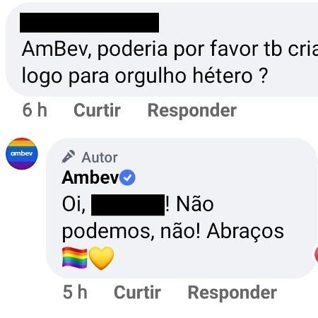 """Internauta pediu à empresa para que criasse logo para """"Orgulho Hétero"""" também. (Foto: Reprodução/Facebook)"""