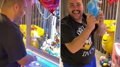 Tiago Abravanel ganha máquina pega-pelúcia no Dia dos Namorados. (Foto: Reprodução/Instagram)
